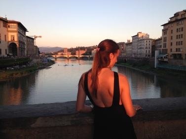 Sunset on the Ponte Vecchio