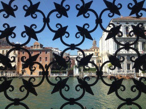 Views looking out from the Peggy Guggenheim Museum