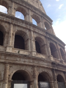 Running around the Colosseum!
