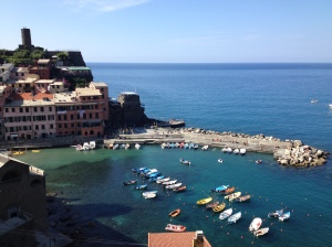 Looking out onto Vernazza