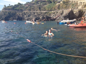 Swimming in Manarola
