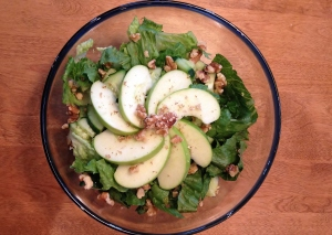 Adding both walnuts and green apples with a Dijon sauce, YUM!