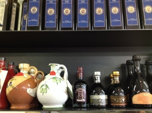 A selection of olive oil and balsamic vinegars