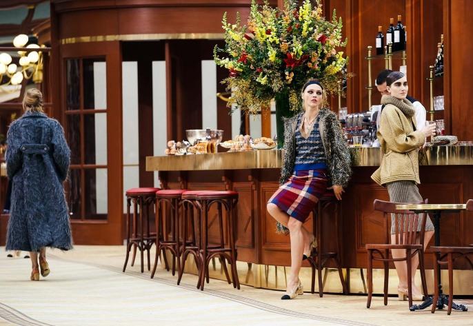 Chanel Parisian Cafe Setup